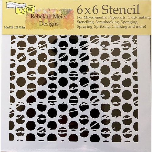 The Crafter's Workshop - 6 x 6 Doodling Templates - Script Dots