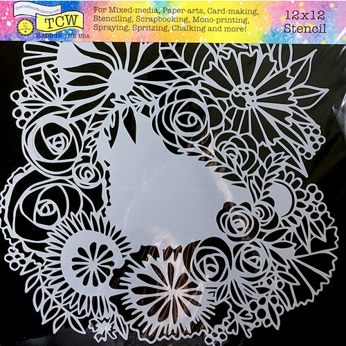 The Crafter's Workshop - 12 x 12 Doodling Templates - Floral Statement