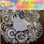 TCW Floral Statement Stencil