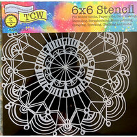 The Crafter's Workshop - 6 x 6 Doodling Templates - Coronet Wreath