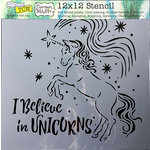 The Crafter's Workshop - 12 x 12 Doodling Templates - Believe in Unicorns