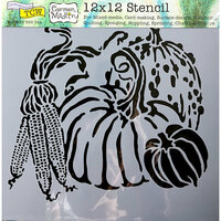 The Crafter's Workshop - 12 x 12 Doodling Templates - Harvest Pumpkins