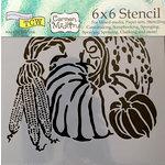 The Crafter's Workshop - 6 x 6 Doodling Templates - Harvest Pumpkins