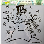 The Crafter's Workshop - Christmas - 12 x 12 Doodling Templates - Mr Snowman