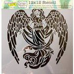 The Crafter's Workshop - 12 x 12 Doodling Templates - Prayerful Angel