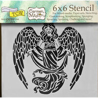 The Crafter's Workshop - 6 x 6 Doodling Templates - Prayerful Angel