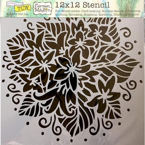 The Crafter's Workshop - 12 x 12 Doodling Templates - Jasmine Spray