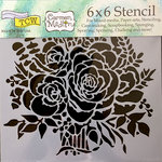 The Crafter's Workshop - 6 x 6 Doodling Templates - Rose Bouquet