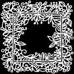 The Crafter's Workshop - 12 x 12 Doodling Templates - Garden Frame