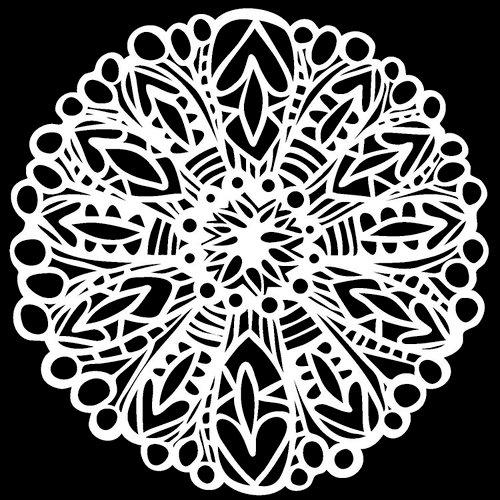 The Crafter's Workshop - 12 x 12 Doodling Templates - Big Flower