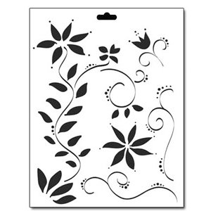 The Crafter's Workshop - 8.5 x 11 Doodling Templates - Floral Vines, CLEARANCE