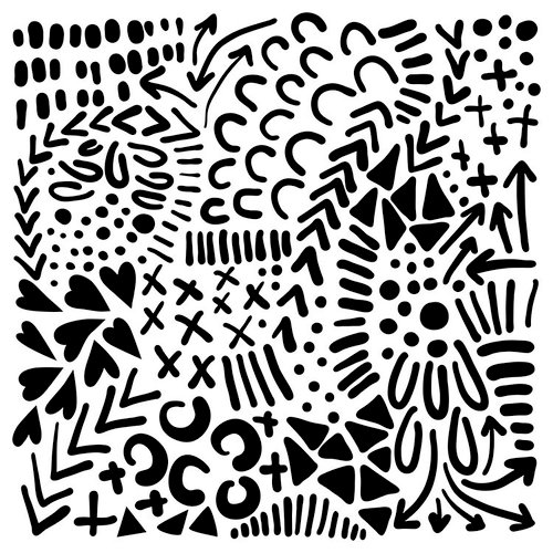 The Crafter's Workshop - 12 x 12 Doodling Templates - Texture Love