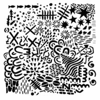 The Crafter's Workshop - 12 x 12 Doodling Templates - Texture Plate
