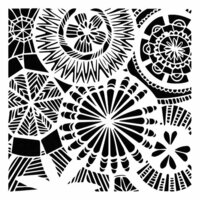 The Crafter's Workshop - 6 x 6 Doodling Templates - Floral Spectacle