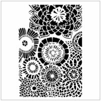 The Crafter's Workshop - 12 x 12 Doodling Templates - Wallflowers