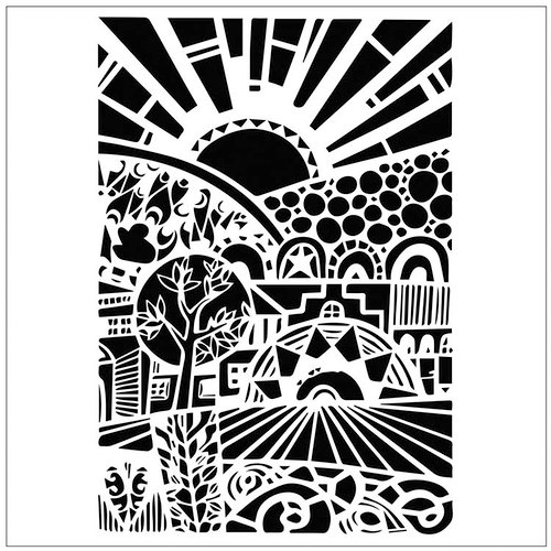 The Crafter's Workshop - 6 x 6 Doodling Templates - Sun Valley