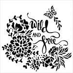 TCW Wild and Free Stencil