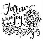 The Crafter's Workshop - 12 x 12 Doodling Templates - Follow Joy