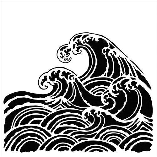 The Crafter's Workshop - 6 x 6 Stencils - Wave