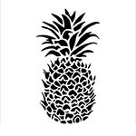 The Crafter's Workshop - 12 x 12 Doodling Templates - Pineapple