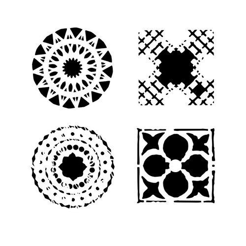 The Crafter's Workshop - 12 x 12 Doodling Templates - Quattro Motifs