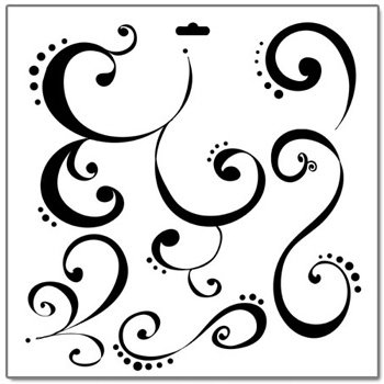 The Crafter's Workshop - 12x12 Doodling Templates - Swirly Q's