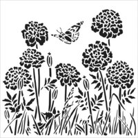 The Crafter's Workshop - 12 x 12 Doodling Templates - Happy Dandelions