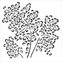 The Crafter's Workshop - 6 x 6 Doodling Templates - Maidenhair Fern