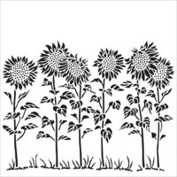 The Crafter's Workshop - 12 x 12 Doodling Templates - Sunflower Meadow