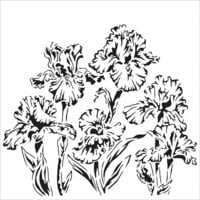 The Crafter's Workshop - 6 x 6 Doodling Templates - Irises
