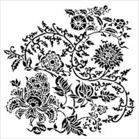 The Crafter's Workshop - 12 x 12 Doodling Templates - Asian Floral