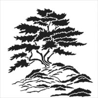 The Crafter's Workshop - 6 x 6 Doodling Templates - Cypress Tree