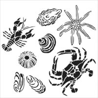 The Crafter's Workshop - 12 x 12 Doodling Templates - Gulf Coast Creatures