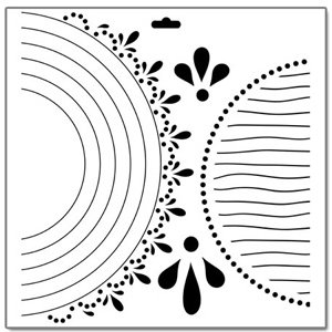 The Crafter's Workshop - 12 x 12 Doodling Templates - Circle Circle Dot Dot