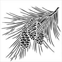 The Crafter's Workshop - 12 x 12 Doodling Templates - Fir Branch