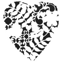 The Crafter's Workshop - 6 x 6 Doodling Templates - Heart Fern