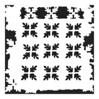 The Crafter's Workshop - 12 x 12 Doodling Templates - Pine Needle Print
