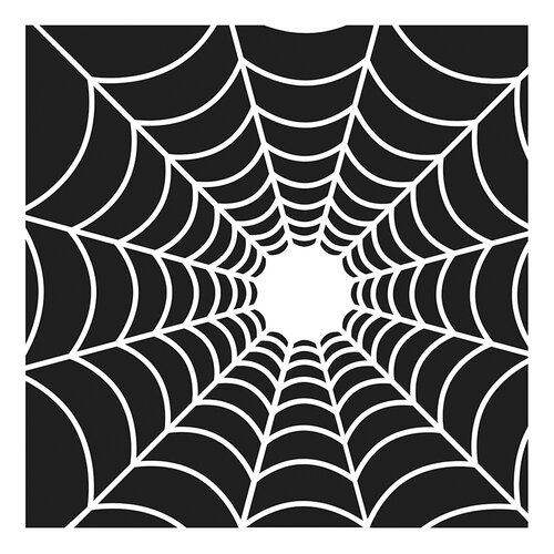 The Crafter's Workshop - Halloween - 12 x 12 Doodling Templates - Spider's Web