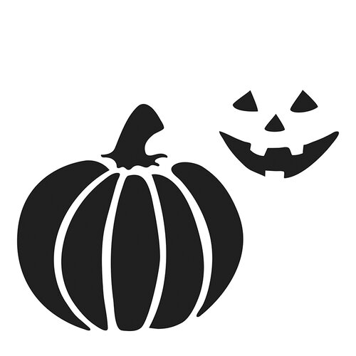 The Crafter's Workshop - Halloween - 6 x 6 Doodling Templates - Jack-o-Lantern
