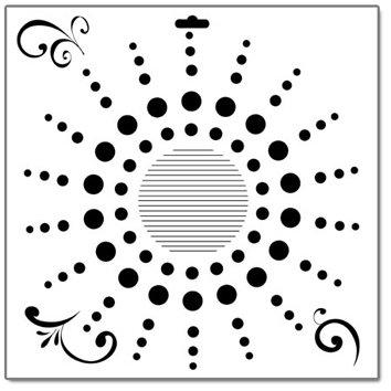 The Crafter's Workshop - 12 x 12 Doodling Templates - Dot Burst