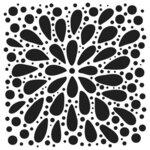 The Crafter's Workshop - 6 x 6 Stencil - Explosion