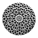 The Crafter's Workshop - 6 x 6 Stencil - Old Circle Grate