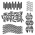 The Crafter's Workshop - 12 x 12 Stencil - Dash V