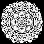 The Crafter's Workshop - 6 x 6 Stencil - Fancy Mandala