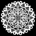 The Crafter's Workshop - 12 x 12 Stencil - Striped Mandala