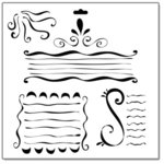 The Crafter's Workshop - 12x12 Doodling Templates - Swirly Lines, CLEARANCE