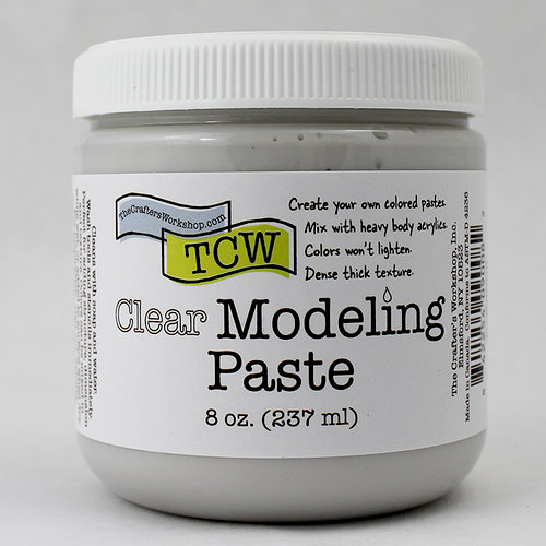The Crafters Workshop - Modeling Paste - Clear - 8 Ounces