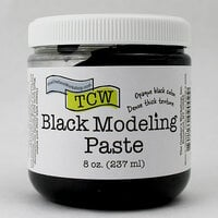 The Crafters Workshop - Modeling Paste - Black - 8 Ounces