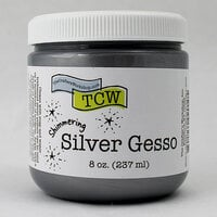 The Crafters Workshop - Gesso - Silver - 8 Ounces