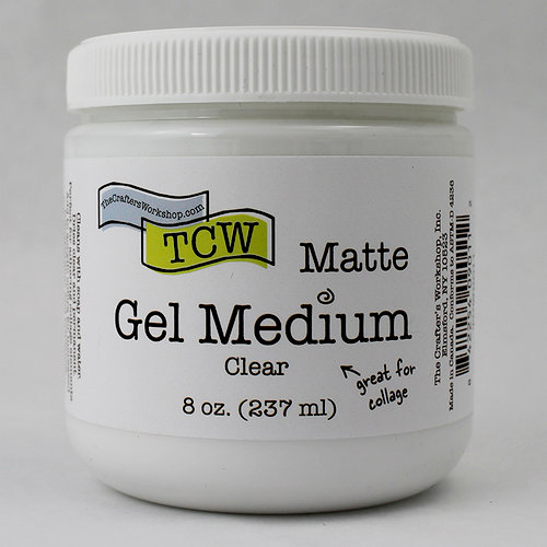 The Crafters Workshop - Gel Medium - Matte - 8 Ounces